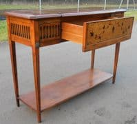 SOLD - Walnut Console Side Table